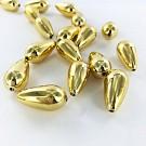 Drop plastic beads 22mm gold