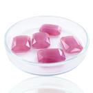 Fancy stones glass 18mm pink coated transparent rectangle