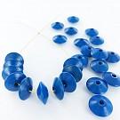 Wooden beads disc 12mm blue