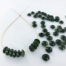 Wooden beads disc 7mm dark green
