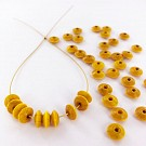 Wooden beads disc 7mm yellow
