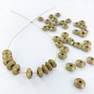 Wooden beads disc 7mm gold