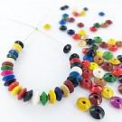 Wooden beads disc 7mm mix