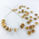 Wooden beads disc 7mm natural