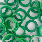 Wooden rings beads green 20mm