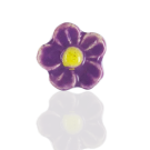 ceramic beads flower pink 13mm