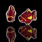 Ceramic bead fish 12mm red yellow
