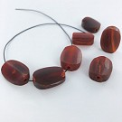 Beads oval 19mm brown