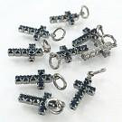 crystal rhinestone pendants cross blue