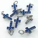 crystal rhinestone pendants cross purple