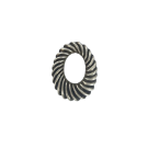 Plastic rings with spiral twist oval 25mm old silver