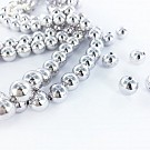 Plastic beads round 10mm silver