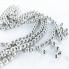 Plastic beads round 6mm silver