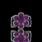 Slider 17mm purple flower