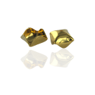 Steel cap gold color 9mm