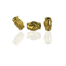 Metal beads friendship love 9mm gold color