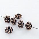 Metal beads 8mm round bronze