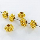 Metal beads 8mm round gold plated