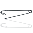 safety pin 94mm old silver color