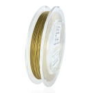 Nylon coated stainless steel wire 0,5mm gold