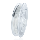 Nylon coated stainless steel wire 0,5mm pearl silver