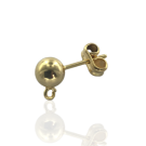 Earrings studs with a ball 6mm gold plated round