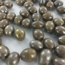 Glass beads oval 11mm brown oval