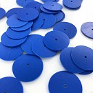 Sequins round flat 18mm blue