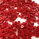 Sequins round flat 4mm red