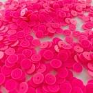 Sequins round flat 6mm pink