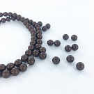 Glass pearls 6mm pearl beads round dark brown