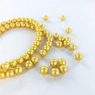 Glass pearls 6mm pearl beads round yellow