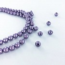 Glass pearls 6mm pearl beads round purple