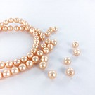 Glass pearls 6mm pearl beads round pink