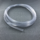 hollow pvc tubing cord square 4mm crystal
