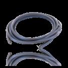 hollow pvc tubing cord square 4mm purple