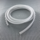 hollow pvc tubing cord square 4mm white matt