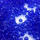 Seed beads glass 6/0 blue transparent