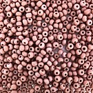 Seed beads 6/0 4mm old pink not transparant