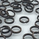 Split rings 9mm round old gold