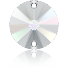 Swarovski Rivoli sew-on stones round 10mm Crystal Aurore Boreale