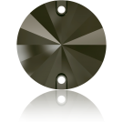 Swarovski Rivoli sew-on stones round 12mm Jet Nut