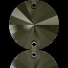 Swarovski Rivoli sew-on stones round 10mm Jet Nut