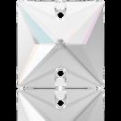 Swarovski sew-on stones square 16mm Crystal Aurore Boreale