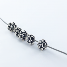 Metal beads spacer silver plated 6mm