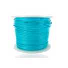 wax cord 0,5mm cotton light blue turquoise round