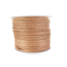 Wax cord 0,5mm cotton natural cream round