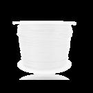 Wax cord 0,5mm cotton white round