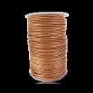 wax cord 1mm cotton brown round