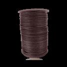 wax cord 1mm cotton dark brown round